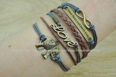Bronze Elephant BraceletLove & infinity Karma by HandmadeTribe, $4.99 Fashion handmade leather jewelry