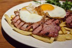 gammon steak with egg