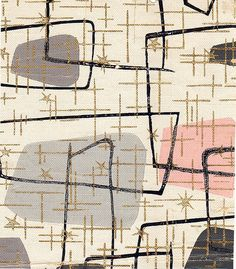 1950s abstract atomic print wallpaper