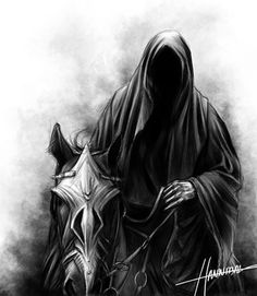 lord of the rings nazgul art -- metal as fuck