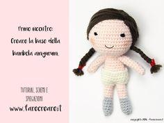 Questo è il primo articolo dove trovi lo schema di base per creare la tua nuova bambola a uncinetto - istruzioni di base di farecreare.it