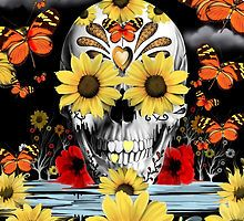 Dreaming of Daisies Skull by KristyPatterson