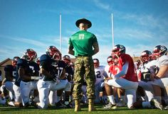Marines pass on leadership principles to the nation's best football athletes at the Semper Fidelis Bowl.