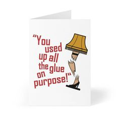 You Used All The glue Up! Original Design Greeting Cards (8 pcs Envelopes Included) Artist Richard Treebus - 4.1 ×  5.8