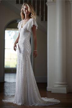 the beadwork   Cibella Gown from BHLDN