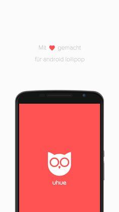uhue - android app | googleplay | lollipop | philips - hue lights | nfc | hue lux | ui & ux | material design | appcom