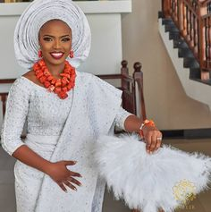 Yaass! to chunky coral beads ♥♥ #wat17♥♥ : Wura Photography: @keziie Planner: @bisolatrendybee @trendybeevents MakeUp: @oshewabeauty Decor: @nwandossignatureevents #BellaNaijaWeddings