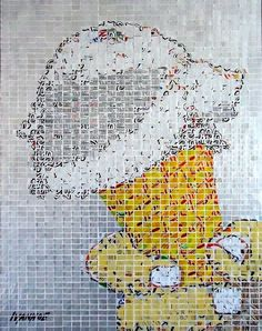 """Vanilla,"" made out of tiles hand-cut from soda cans, by AluMosaic artist Jeff Ivanhoe."