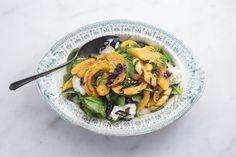 Roasted Squash, Chile, and Mozzarella Salad by 101 Cookbooks