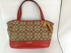 Coach Carrie Signature Women's Tote Hangbag Purse F23297 #Coach #Totes