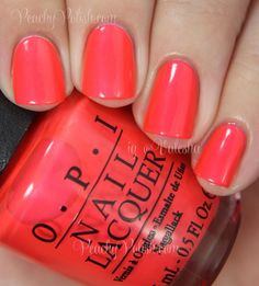 OPI: Summer 2014 Neon Collection Swatches & Review | Peachy Polish | Bloglovin'
