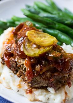 Dill Pickle Meatloaf- an all-American meal!