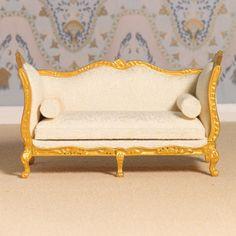 Dolls House 4403 Sofa Louis XV Style Gold & Cream 1:12 For Doll House New! in Dolls & Bears | eBay