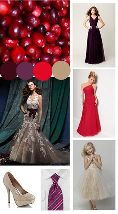 Fall Wedding Colors: Cranberries.... AMAZING color palette for fall