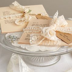 Cute Gift: Vintage looking pearls and lace favors for guests to pick up following an afternoon tea party....tea party recipe cards...lovely decorations to grace the tea tables as well