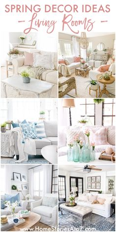 Spring Decor Ideas: Gorgeous Spring Living Room Decor Living Room Decor, Living Spaces, Living Rooms, Pallet Accent Wall, Cottage Furniture, Rooms For Rent, Decorate Your Room, Spring Home, Porch Decorating