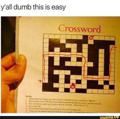 """This Crossword Was Really Easy - Funny memes that """"GET IT"""" and want you to too. Get the latest funniest memes and keep up what is going on in the meme-o-sphere. Blue Exorcist, Death Note, Skyrim, Really Funny, The Funny, Nintendo, Youre Doing It Wrong, Laughing So Hard, Just For Laughs"""