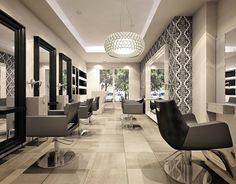 Hairdresser salon Roma design