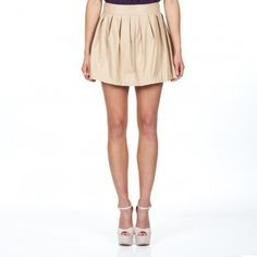 #shoxie.com               #Skirt                    #Pleated #Skirt, #tan, #vegan #leather #Shoxie.com  Tan Pleated Skirt, tan, vegan leather - Shoxie.com                            http://www.seapai.com/product.aspx?PID=1283894