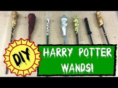 DIY: HARRY POTTER WAND TUTORIAL- 7 Easy Custom Wands with Hot Glue and Clay - YouTube