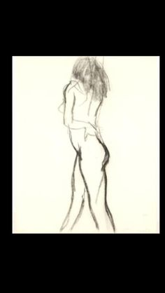 """Nathan Oliveira - """" Untitled (Nude) """",1982 - Charcoal on paper - 24 x 19 in."""