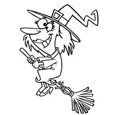 Leuk voor kids coloring sheetFunny looking witch Halloween Coloring Pages, Coloring For Kids, Funny Kids, Witches, Cool Kids, Discovery, Card Ideas, Apps, Windows
