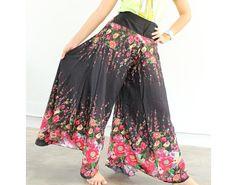 Batik Yoga Harem Pants Black Fisherman Hippie Pants by myuniverse, $29.90