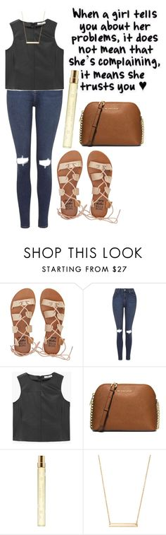 """""""can't tell you how true this is,,,,"""" by kyleemorrison ❤ liked on Polyvore featuring Billabong, Topshop, MANGO, Michael Kors, Marc Jacobs and Stella & Dot"""