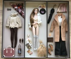 Go See! Poppy- set of autumn comfort Barbie Dolls Diy, Princess Barbie Dolls, Barbie Fashionista Dolls, Diy Barbie Clothes, Barbie Toys, Doll Clothes, Baby Leggings, Fashion Royalty Dolls, Fashion Dolls