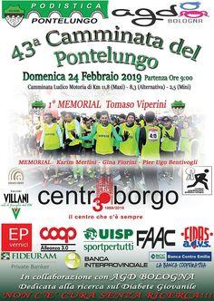 Camminata del Pontelungo 2019 - 43a edizione si svolgerà il giorno 24/02/2019 a Bologna (Bo) sulla distanza di 11,8Km, 8,3Km, e 2,5Km . #corriqui Bologna