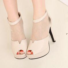 wholesale Platform peep toe shoes new look hot high heels XD-FF8122-5
