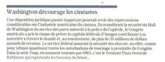 """Washington décourage les cinéastes"" (Le Figaro)"