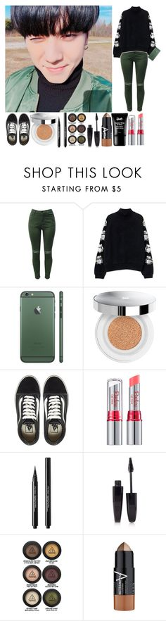 """Selca with Yugyeom"" by the-broken-angel ❤ liked on Polyvore featuring Lancôme, Vans, Shiseido, Forever 21, 3 Concept Eyes and Maybelline"