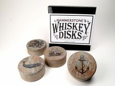 For Dad - WhiskeyDisks™ handcrafted whiskey stones to chill fine liquors without diluting.