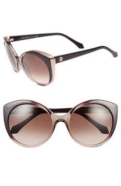 bad589acf97 Roberto Cavalli 56mm Cat Eye Sunglasses available at  Nordstrom Cat Eye  Sunglasses