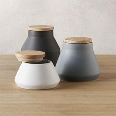 Shop 3-piece neutral canister set. /