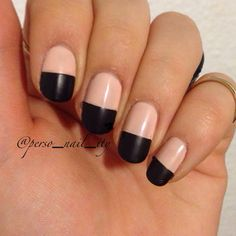 Nude pink and black