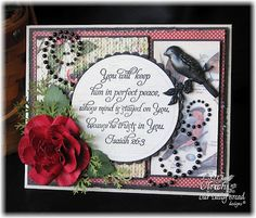 Created for this week's Mojo challenge using ODBD's Scripture Collection 7 and papers by MME and 7Gypsies