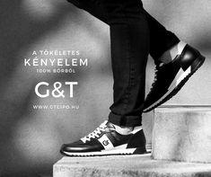 G&T Aktív Fekete – Fehér bőr sportcipő Aktiv, Converse, Sneakers, Shoes, Fashion, Tennis, Moda, Slippers, Zapatos