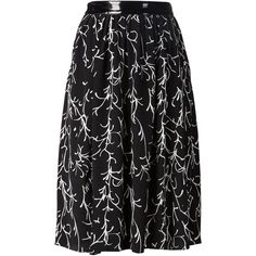 Tanya Taylor 'Margot' skirt (€365) ❤ liked on Polyvore featuring skirts, black and silk skirts