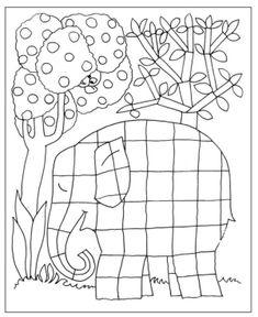 Risultati immagini per elmer o elefante aos quadrados Free Adult Coloring Pages, Colouring Pages, Coloring Sheets, Coloring Books, Elmer The Elephants, Christmas Tree Coloring Page, Travel Doodles, Elephant Quilt, Elephant Colour