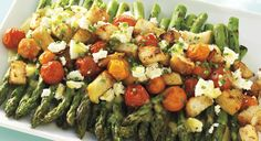 BBQ GRILLING #BBQ #Grilling Asparagus and Tomato Salad with Feta