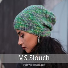 MS Slouchy - a new free pattern — Woolly Wormhead Knitting Patterns Free, Free Knitting, Hat Patterns, Free Pattern, Crochet Patterns, Knitted Hats, Small Knitting Projects, Knit Crochet, Tricot