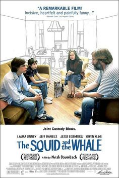 Movie Synopsis: Based on the true childhood experiences of Noah Baumbach and his brother, The Squid and the Whale tells the touching story of two young boys dealing with their parents divorce in Brooklyn in the Hd Movies, Movies To Watch, Movies Online, Movies And Tv Shows, Comedy Movies, Action Movies, Love Movie, Movie Tv, Movie Titles