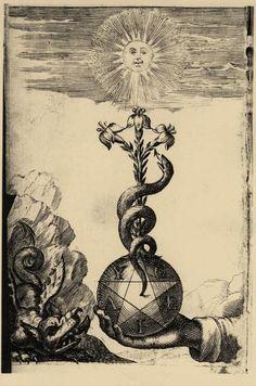 Illustration d'un traité d'alchimie.