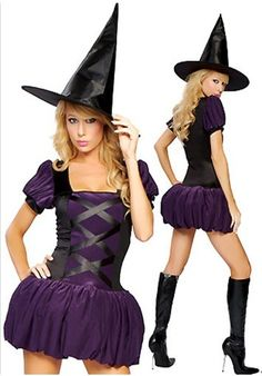 Witch costume K-830,halloween costumes for toddlers,halloween costumes for teens,good halloween costume ideas on www.beauty-sexy.com