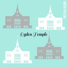 Ogden Temple Utah LDS Church of Jesus Christ Clip Art png eps svg Vector Ogden Temple, Lds Mormon, Lds Church, Girls Camp, Activity Days, Relief Society, Vinyl Lettering, Cute Crafts
