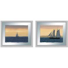 Sailboats Wall Art, 22 inch x 18 inch, Set of 2