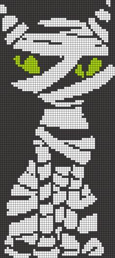 Mummy cat Alpha Friendship Bracelet Pattern #18701 - BraceletBook.com