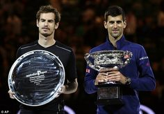 The World No 1 and World Number 2 shared a photo opportunity together with their trophies